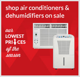 Shop air conditioners & dehumidifiers on sale