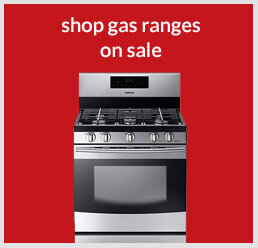 Shop gas ranges on sale