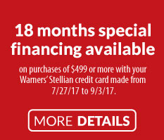 0% Interest Special Financing