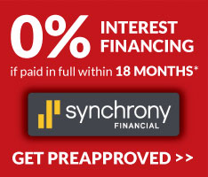 O% Interest 18 Month Financing