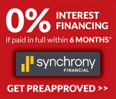 O% Interest 6 Month Financing