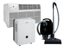 shop outlet vacuums, air conditioners and dehumidifiers